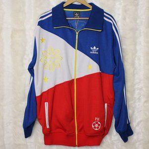 Adidas Philippines Flag Vintage Track Jacket NWT
